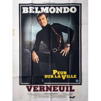 NIGHT CALLER Movie Poster - 47x63 in. - 1975 - Henri Verneuil, Jean-Paul Belmondo