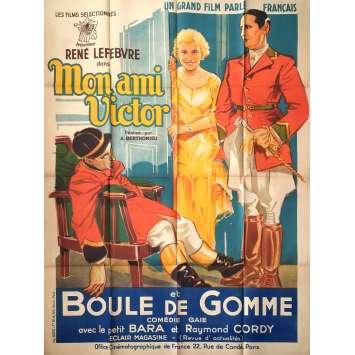 MON AMI VICTOR Affiche de film - 120x160 cm. - 1931 - Pierre Brasseur, André Berthomieu