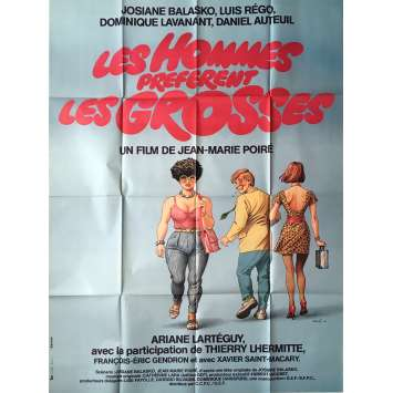 MEN PREFER FAT GIRLS Movie Poster - 47x63 in. - 1981 - Jean-Marie Poiré, Josiane Balasko