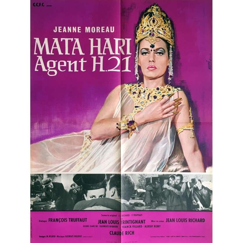 MATA HARI Movie Poster - 23x32 in. - 1964 - Jean-Louis Richard, Jeanne Moreau