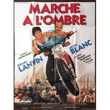 MARCHE A L'OMBRE Movie Poster - 47x63 in. - 1984 - Michel Blanc, Gérard Lanvin