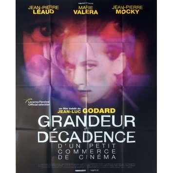 GRANDEUR ET DECADENCE Affiche de film - 120x160 cm. - 1986 - Bob Dylan, Jean-Luc Godard