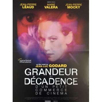 GRANDEUR ET DECADENCE Affiche de film - 40x60 cm. - 1986 - Bob Dylan, Jean-Luc Godard
