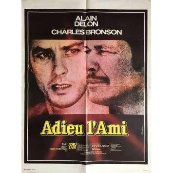 ADIEU L'AMI Affiche de film - 60x80 cm. - 1968 - Alain Delon, Charles Bronson