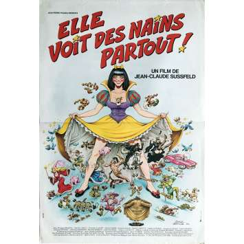 ELLE VOIT DES NAINS PARTOUT Movie Poster - 15x21 in. - 1982 - Jean-Claude Sussfeld, Zabou Breitman