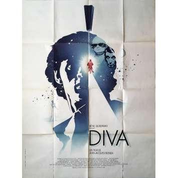DIVA Affiche de film - 120x160 cm. - 1981 - Jean-Hugues Anglade, Jean-Jacques Beineix