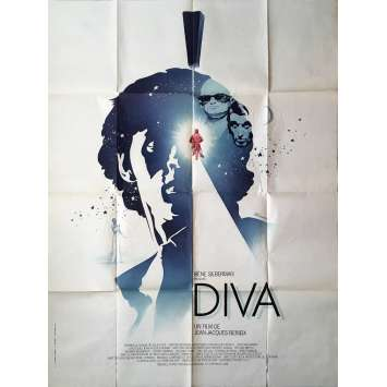 DIVA Movie Poster - 47x63 in. - 1981 - Jean-Jacques Beineix, Jean-Hugues Anglade