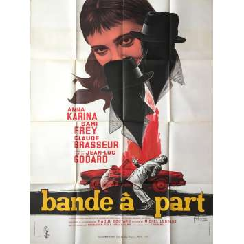 BAND OF OUTSIDERS Movie Poster - 47x63 in. - 1964 - Jean-Luc Godard, Anna Karina
