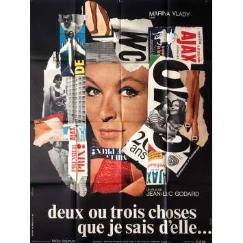 2 OU 3 CHOSES QUE JE SAIS D'ELLE Affiche de film 120x160 cm. - 1967 - Godart, Pop Art