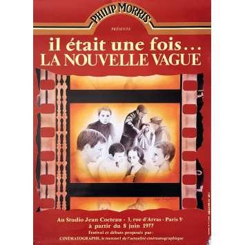 ONCE UPON A TIME LA NOUVELLE VAGUE Movie Poster - 23x32 in. - 1982 - François Truffaut, Jean-Luc Godard