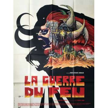 QUEST FOR FIRE Movie Poster Style B - 47x63 in. - 1981 - Jean-Jacques Annaud, Ron Perlman