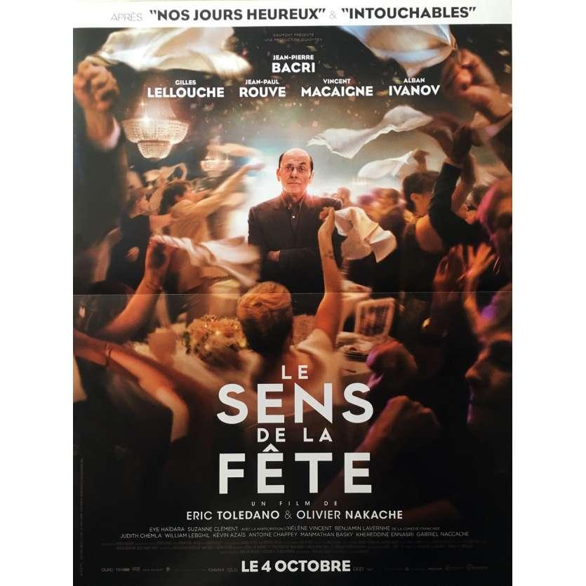 LE SENS DE LA FETE Affiche de film 40x60 - 2017 - Jean-Pierre Bacri