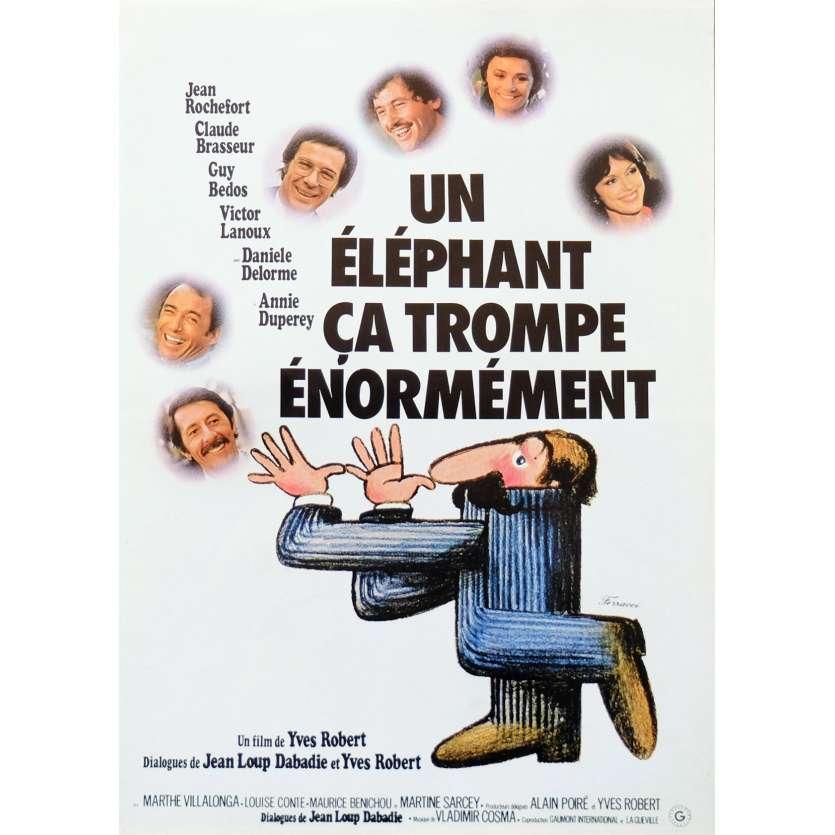 UN ELEPHANT CA TROMPE ENORMEMENT Synopsis 6p 21x30 - 1976 - Jean Rochefort, Yves Robert