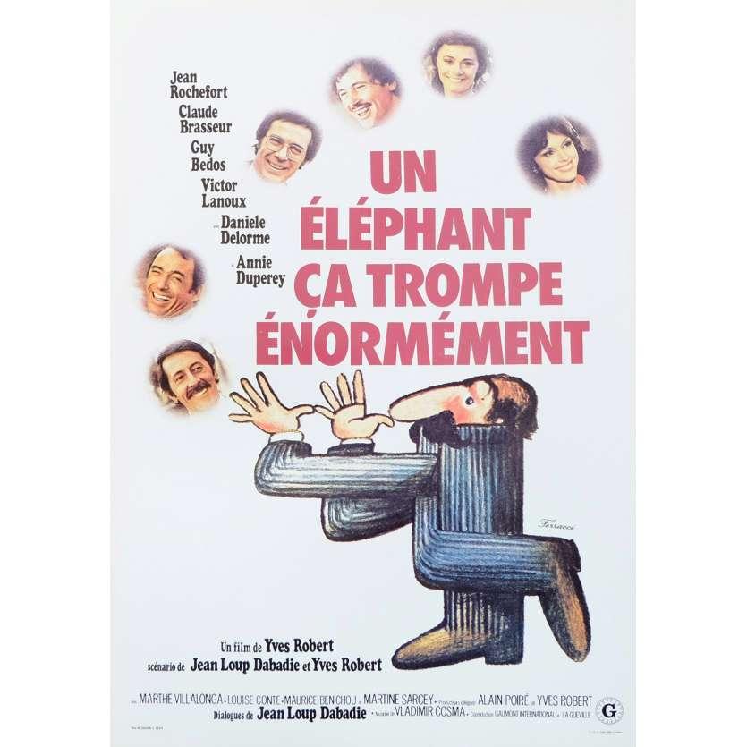 UN ELEPHANT CA TROMPE ENORMEMENT Synopsis 2p 21x30 - 1976 - Jean Rochefort, Yves Robert