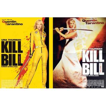 KILL BILL Original Movie Posters Lot x2 - 15x21 - 2002 - Tarantino