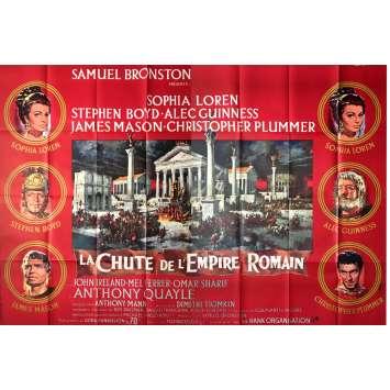 LA CHUTE DE L'EMPIRE ROMAIN Affiche de film - 120x320 cm. - 1964 - Sophia Loren, Anthony Mann