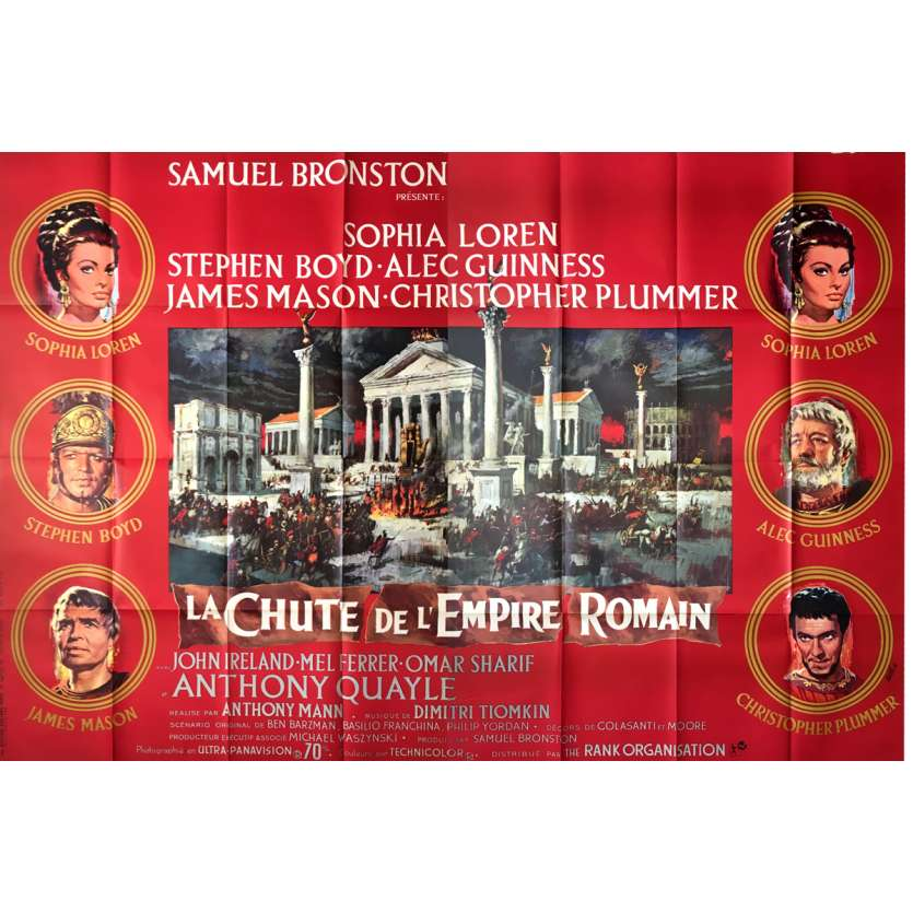 THE FALL OF THE ROMAN EMPIRE Movie Poster - 47x126 in. - 1964 - Anthony Mann, Sophia Loren