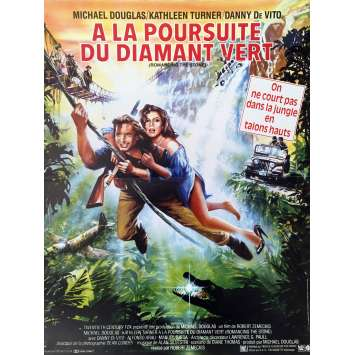 ROMANCING THE STONE Movie Poster - 15x21 in. - 1984 - Robert Zemeckis, Michael Douglas
