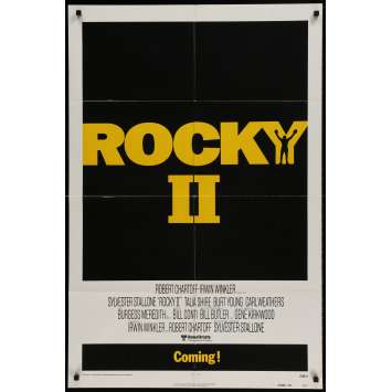 ROCKY 2 Movie Poster Advance - 29x41 in. - 1979 - Sylvester Stallone, Carl Weathers