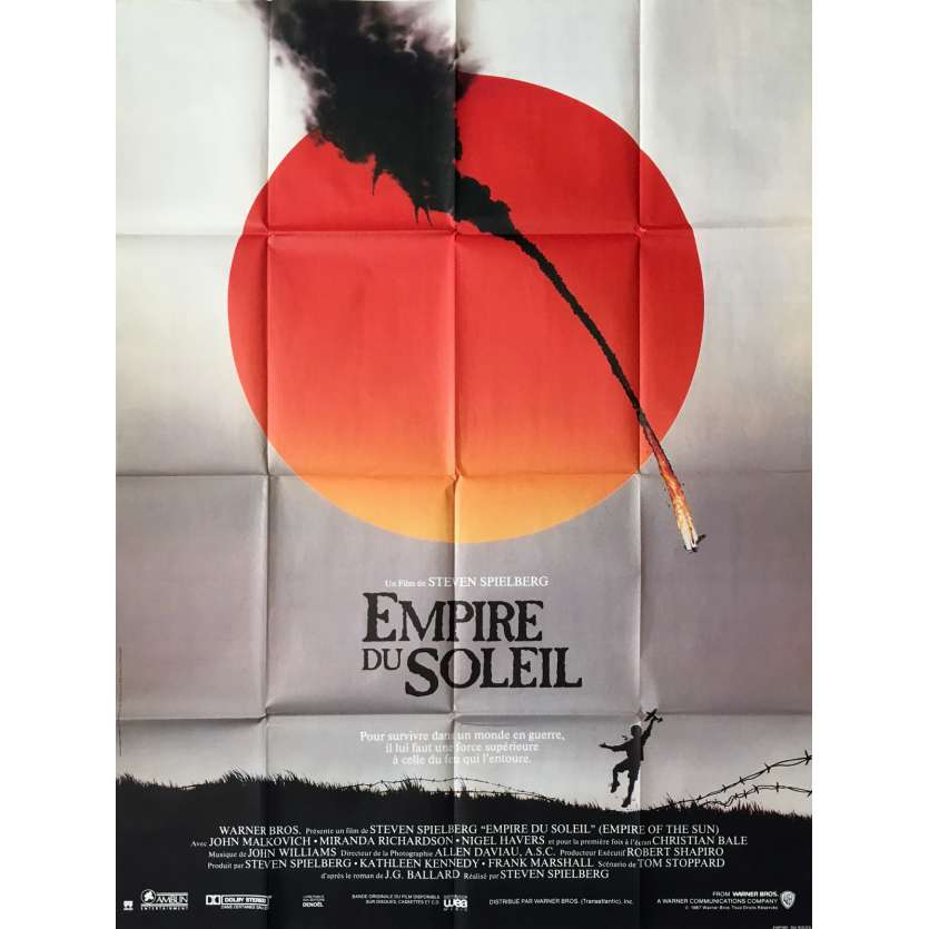EMPIRE OF THE SUN Movie Poster - 47x63 in. - 1987 - Steven Spielberg, Christian Bale