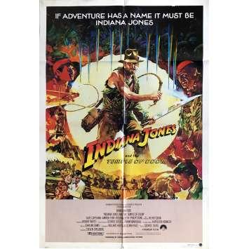 INDIANA JONES ET LE TEMPLE MAUDIT Affiche de film Vaughan Style - 69x104 cm. - 1984 - Harrison Ford, Steven Spielberg