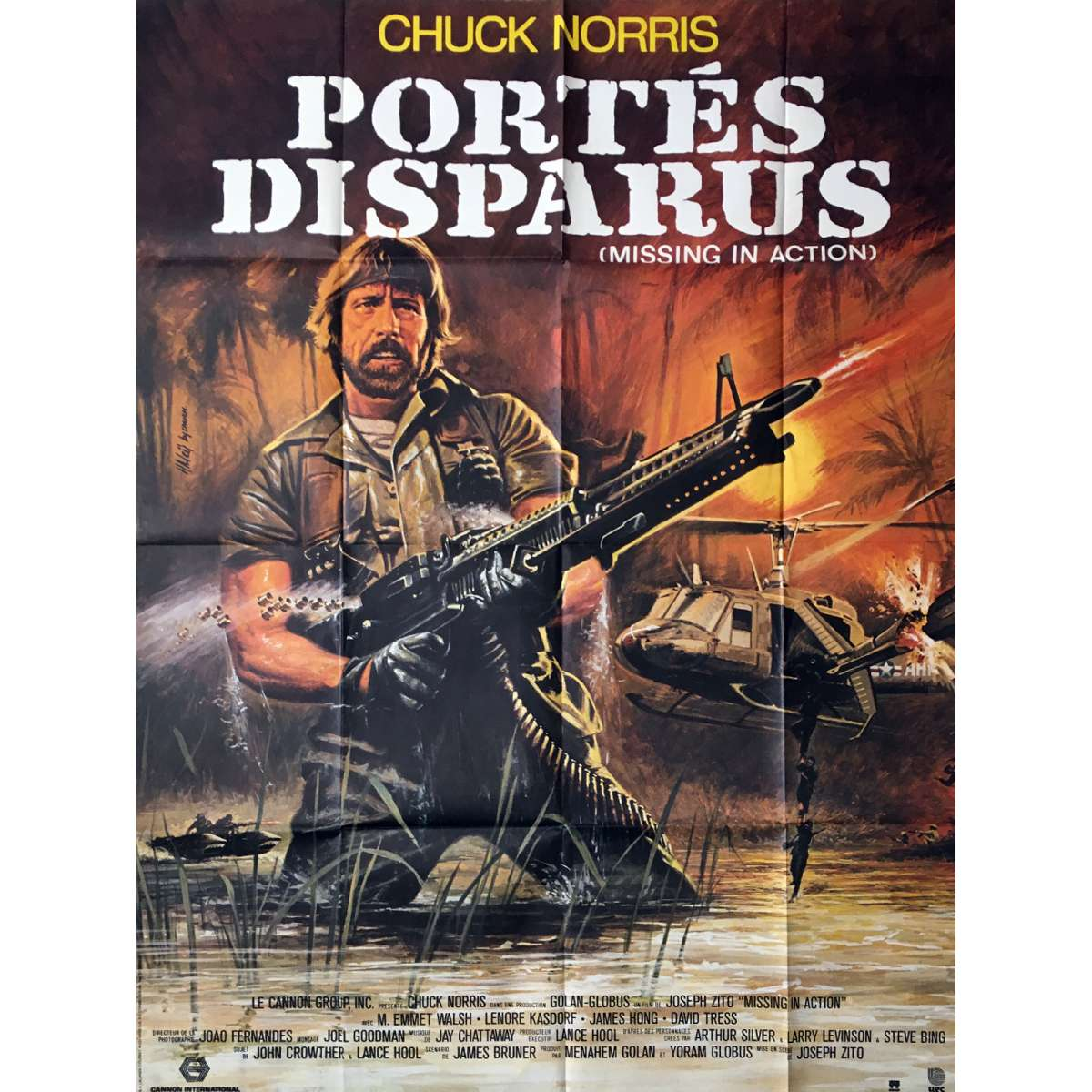 missing in action movie poster 47x63 in