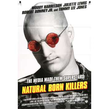 NATURAL BORN KILLERS Movie Poster - 29x41 in. - 1994 - Oliver Stone, Woody Harrelson
