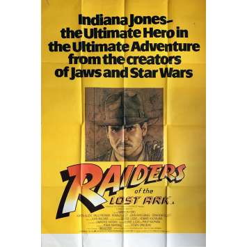 RAIDERS OF THE LOST ARK Movie Poster - 40x60 in. - 1981 - Steven Spielberg, Harrison Ford