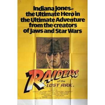 LES AVENTURIERS DE L'ARCHE PERDUE Affiche de film - 102x152 cm. - 1981 - Harrison Ford, Steven Spielberg