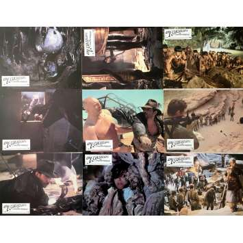 RAIDERS OF THE LOST ARK Lobby Cards x8 - 9x12 in. - 1981 - Steven Spielberg, Harrison Ford