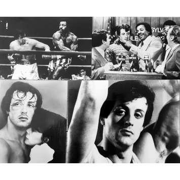 ROCKY Photos de presse x4 - 13x18 cm. - 1976 - Sylvester Stallone, John G. Avildsen