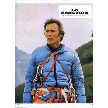 THE EIGER SANCTION Lobby Card N03 - 9x12 in. - 1975 - Clint Eastwood, George Kennedy