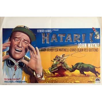 HATARI! Movie Poster - 14x21 in. - 1962 - Howard Hawks, John Wayne