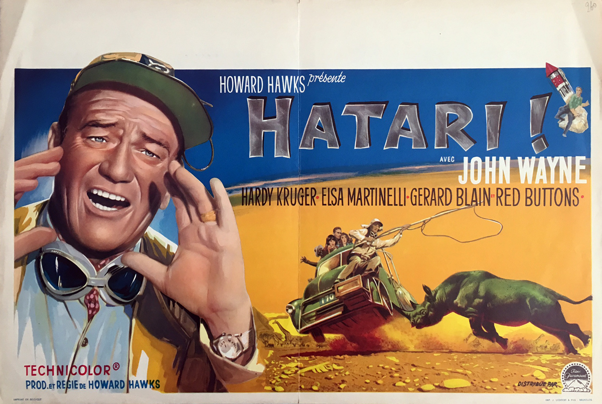 HATARI! Movie Poster 14x21 in.