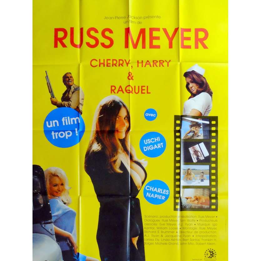 CHERRY, HARRY AND RAQUEL French Movie Poster 47x63 - 1970 - Russ Meyer, Linda Ashton