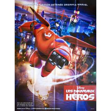 BIG HERO 6 French Movie Poster 47x63 - 2015 - Pixar, Ryan Potter