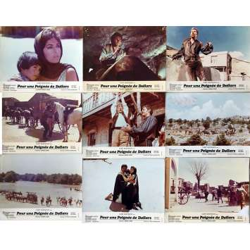 A FISTFUL OF DOLLARS Lobby Cards x9 - 10x12 in. - 1964 - Sergio Leone, Clint Eastwood
