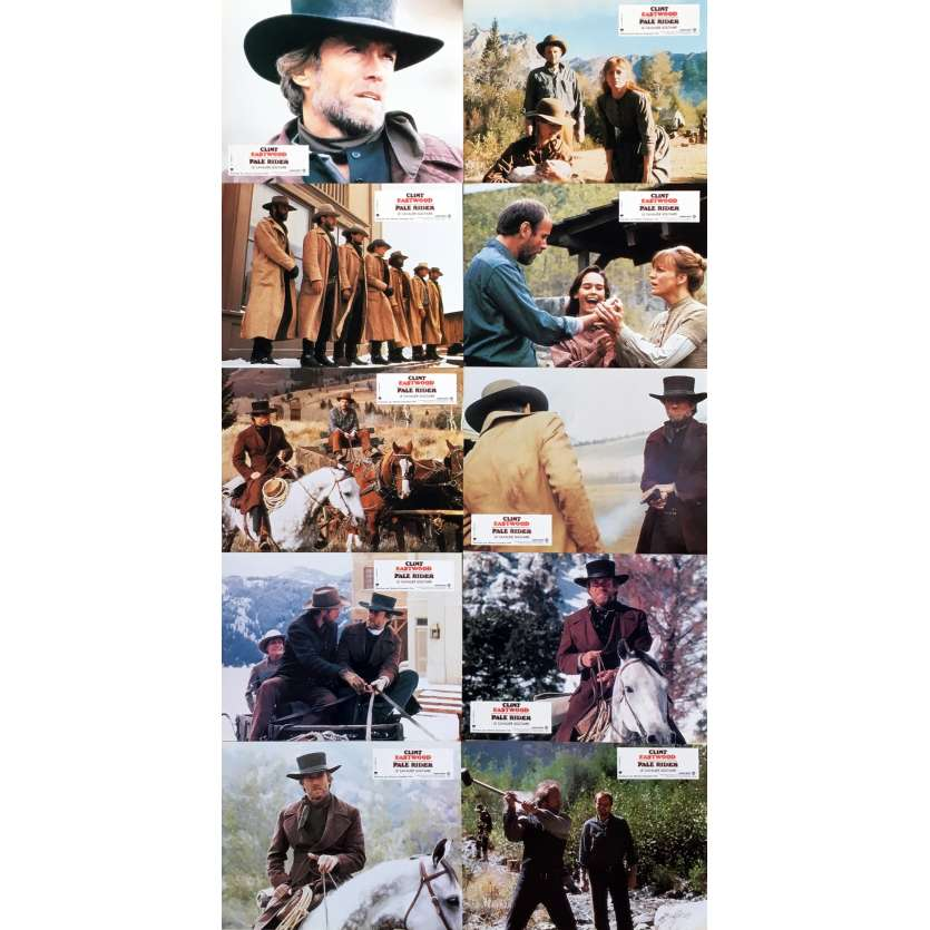 PALE RIDER Photos de film x10 - 21x30 cm. - 1985 - 0, Clint Eastwood