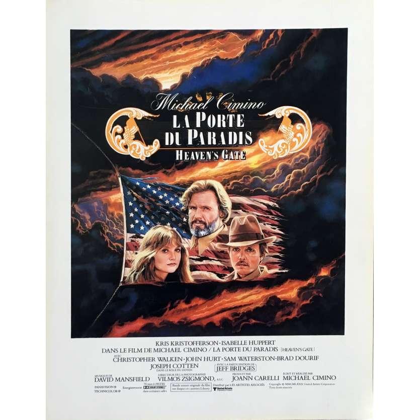 HEAVEN'S GATE Herald - 9x12 in. - 1980 - Michael Cimino, Christopher Walken