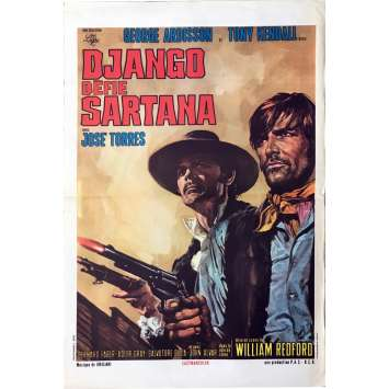 DJANGO DEFIE SARTANA Affiche de film - 40x60 cm. - 1970 - George Ardisson, Pasquale Squitieri