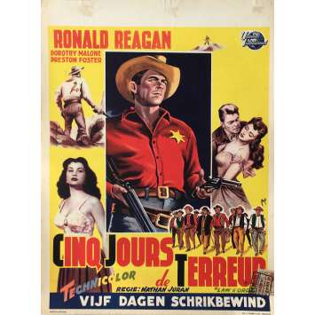 LAW AND ORDER Movie Poster - 14x21 in. - 1953 - Nathan Juran, Ronald Reagan