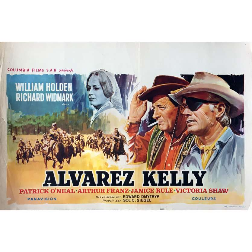 ALVAREZ KELLY Affiche de film - 35x55 cm. - 1966 - William Holden, Edward Dmytryk