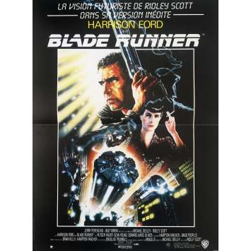 BLADE RUNNER Movie Poster - 15x21 in. - 1992 - Ridley Scott, Harrison Ford