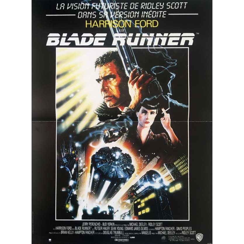 BLADE RUNNER Movie Poster - 15x21 in. - 1992 - Ridley Scott, Harrison Ford
