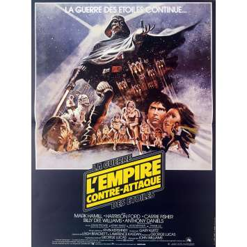 STAR WARS - EMPIRE STRIKES BACK Movie Poster Style B - 15x21 in. - R1990 - George Lucas, Harrison Ford