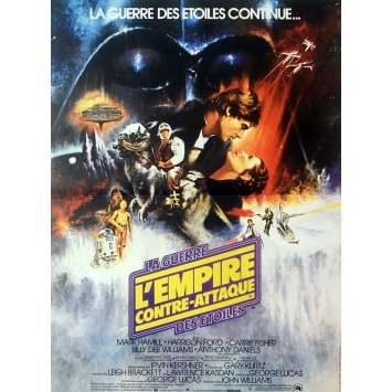 STAR WARS - EMPIRE STRIKES BACK Movie Poster Style A - 15x21 in. - R1990 - George Lucas, Harrison Ford