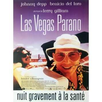 LAS VEGAS PARANO Affiche de film - 40x60 cm. - 1998 - Johnny Depp, Terry Gilliam