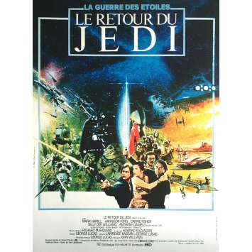 STAR WARS - THE RETURN OF THE JEDI Movie Poster Style B - 15x21 in. - R1990 - Richard Marquand, Harrison Ford