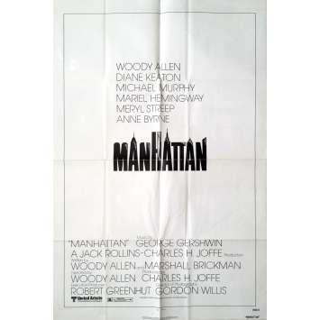 MANHATTAN Affiche de film - 69x104 cm. - 1979 - Diane Keaton, Woody Allen
