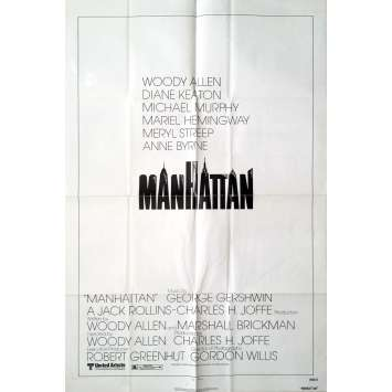 MANHATTAN Movie Poster - 29x41 in. - 1979 - Woody Allen, Diane Keaton